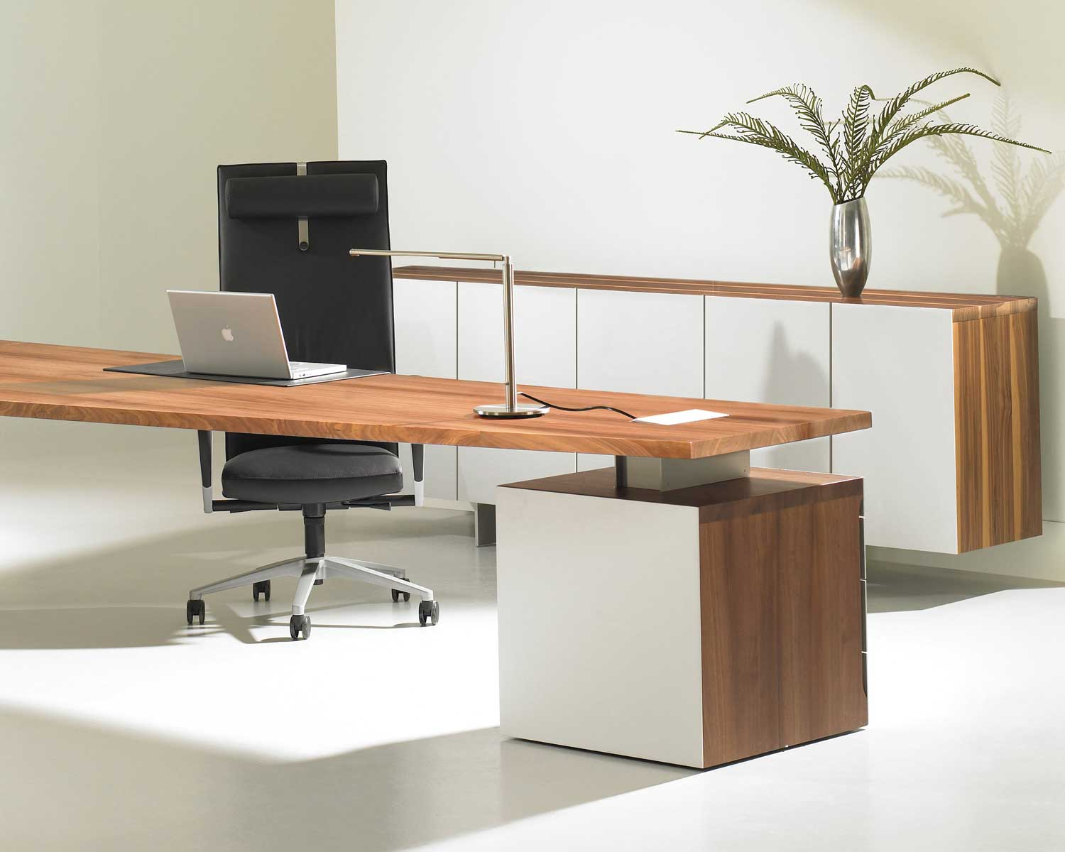 Comfortable office furniture vision office interiors for Modern home office desks